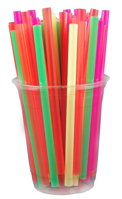 Tyler drank with a straw today for Plastic straw art