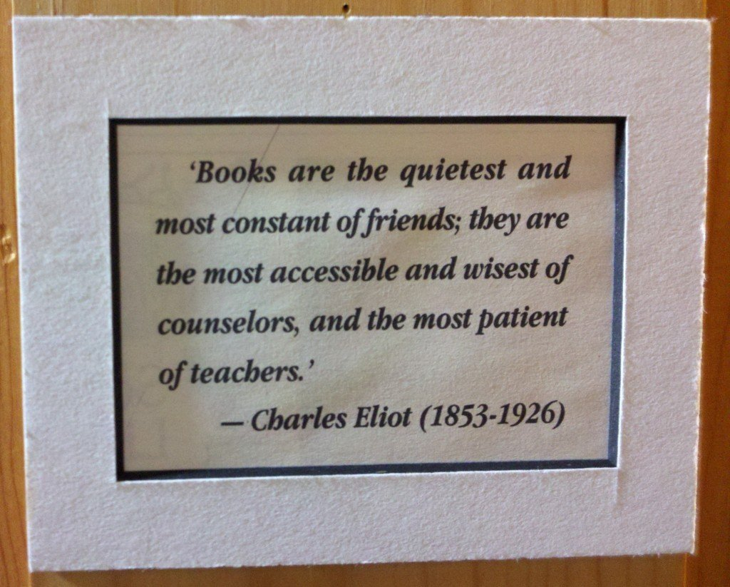 Books are the quietest and most constant of friends; they are the most accessible and wisest of counselors, and the most patient of teachers. - Charles Eliot