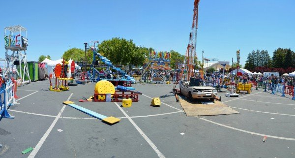 Maker Faire 2013 Life Size Mousetrap Panorama